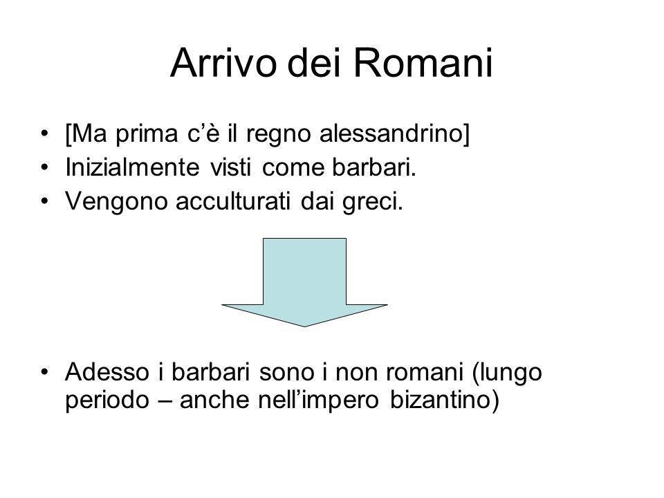 Arrivo dei Romani [Ma prima c'è il regno alessandrino]